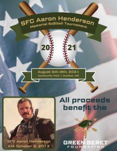 2021 Sgt. 1st Class Aaron Henderson Memorial Softball Tournament